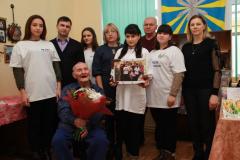 21.02.2019г. Долгожитель балашовского района В.Н. Савенков отпраздновал 102 день рождения